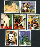 PARAGUAY 1981 Birth Cent. Of Pablo Picasso, SET OF 7, USED Never Hinged - Paraguay