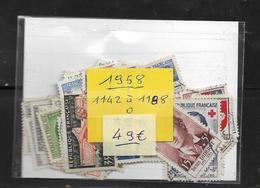 France Année  1958 Complète En Oblitéré N °1142 A 1188  Cote 49 € - 1950-1959