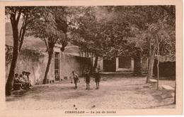 Cpa 30 CORNILLON  Le Jeu De Boules , Animée D'enfants , Dos Vierge - France