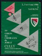 Rare // Etiquette De Vin //  Musique // Cully, 55ème Giron Des Chorales Du Jorat - Musique