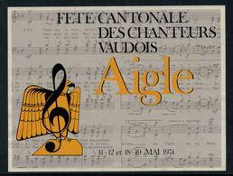 Rare // Etiquette De Vin //  Musique  // Aigle, Fête Cantonale Des Chanteurs Vaudois - Musique
