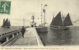 BOULOGNE Sur MER  Bateaux Faisant Voile Vers L'Islande Pour La Grande Peche    RV - Boulogne Sur Mer