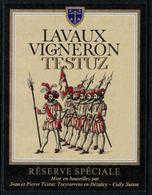 Rare // Etiquette De Vin //  Uniformes Anciens //Lavaux, Réserve Spéciale Les 100 Suisses - Antiche Uniformi