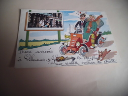 BELLE ILLUSTRATION ....BIEN ARRIVE.....SIGNE DE PREISSAC - Villeneuve-sur-Yonne
