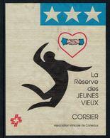 Rare // Etiquette De Vin //  Gymnastique  // Corsier, La Réserve Des Jeunes Vieux - Etiquettes