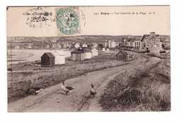 22 Erquy Vue Générale De La Plage Cachet 1905 - Erquy