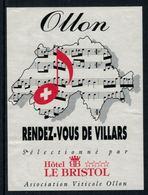 Rare // Etiquette De Vin //  Musique  // Ollon, Rendez-vous De Villars - Musique