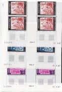 Andorre 184 186 Fresques  Bloc De 4 Bas De Feuil Coin Daté 8 67 NEUF ** TB MNH Sin Charnela - Andorra Francesa