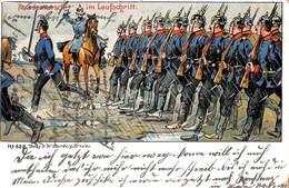 Parade Im Laufschritt (Litho W Steinberg 1905) - Heimat