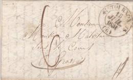 LAC De Tournon (sur-Rhône - 07) Pour Grasse (06) - 14 Juillet 1831 - CAD Rond Type 12 & Dateur A - Taxe Manuelle 6 - 1801-1848: Précurseurs XIX