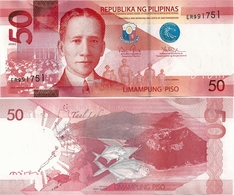 PHILIPPINES      50 Piso      P-207a       2016G      UNC - Filippine