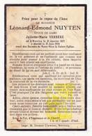 DP Léonard Edm. Nuyten ° Wervik Wervicq 1871 † 1934 X Juliette M. Verbeke - Imágenes Religiosas