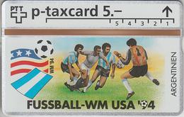 SUISSE - PHONE CARD - °TAXCARD-PRIVÉE *RARE *** FOOT-USA 1994 - 12/24 *** - Svizzera