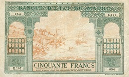 50 FRANCS 1941 - Maroc