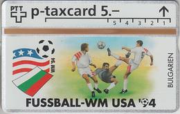 SUISSE - PHONE CARD - °TAXCARD-PRIVÉE *RARE *** FOOT-USA 1994 - 13/24 *** - Svizzera