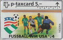 SUISSE - PHONE CARD - °TAXCARD-PRIVÉE *RARE *** FOOT-USA 1994 - 14/24 *** - Svizzera