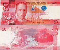 PHILIPPINES      50 Piso      P-New       2017      UNC  [sign. Duterte-Espenilla] - Filippine