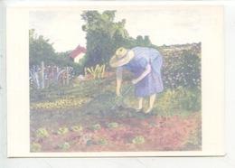 La Jeanne Au Jardin - Monique Piton Huile Sur Toile - Association Une Place Au Solei  Besançon (cp Vierge) - Besancon