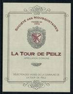 Rare // Etiquette De Vin //  Tir  // La Tour-de-Peilz, Société De Tir Des Mousquetaires - Etiquettes