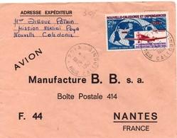 Poya Nelle Calédonie 1969 -  Lettre Brief Cover - Nouvelle-Calédonie