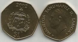 Samoa 1 Tala 2002. High Grade - Samoa