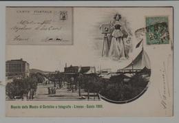 Italie Ricordo Della Mostra Di Cartoline E Fotografie  Livorno - Estate 1901 (exposition Cartes Postales Livourne 1901) - Italie