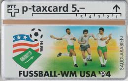 SUISSE - PHONE CARD - °TAXCARD-PRIVÉE *RARE *** FOOT-USA 1994 - 24/24 *** - Svizzera