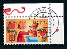GERMANY Mi.Nr. 3185 Freude Schenken - Eckrand Oben Rechts - Used - BRD