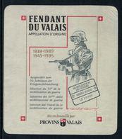 Rare // Etiquette De Vin // Militaire // Fendant, 50ème Anniversaire De La Mobilisation 1939-1945 - Militaire