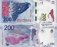 ARGENTINA    200 Pesos    P-364[b]    ND (2017)    UNC  [suffix D - Sign. Sturzenegger - Monzó] - Argentina