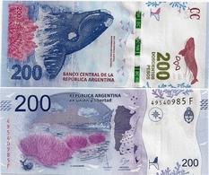 ARGENTINA    200 Pesos    P-364[b]    ND (2017)    UNC  [suffix F - Sign. Sturzenegger - Monzó] - Argentine