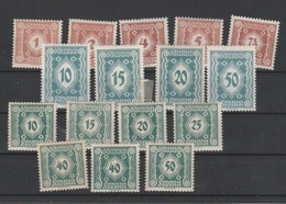 Porto Mi. Nr. 103 - 117 Meist Postfrisch Bitte Lesen - 1918-1945 1. Republik