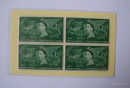 GREAT BRITAIN 1958: Queen Elizabeth II - COMMON WEALTH GAMES, CARDIFF SG 567-69. MNH - BLOCKS OF 4 STAMPS - Ongebruikt