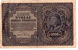 Billet Pologne 1000 Marek Tadeusz Kosciuszko - 1919 N°063614 - Pologne