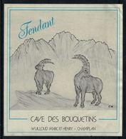 Rare // Etiquette De Vin // Autres  // Fendant, Cave Des Bouquetins - Etiquettes