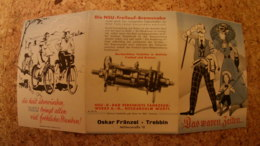 Werbeprospekt NSU Opel Fahrrad - Werbepostkarten