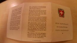 Prospekt Bundesfeier 1925 - Suisse