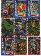 LOT DE   103 CARTES  TRADING CARD GAME  MARVEL AVENGERS  ATTAX 2010  +  LOT DE 28 CARTES EN DOUBLE - Marvel