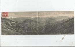 VALLEE D'AURE VUE PRISE DU COL D'ASPIN (CARTE DOUBLE) 1907 - Otros Municipios