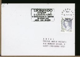 ITALIA - AREZZO - GENIO E CARTOGRAFO  -  LEONARDO DA VINCI - Célébrités