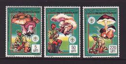 Mauritania 1991, Mushrooms, Scouting, MNH. Cv 13,20 Euro - Mauretanien (1960-...)