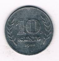 10 CENTS  1942 NEDERLAND /1178// - [ 3] 1815-… : Kingdom Of The Netherlands