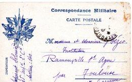 CP- Correspondance Militaire-- 7 Drapeaux - - Marcophilie (Lettres)
