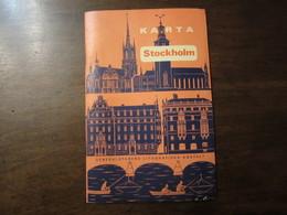 SUEDE STOCKHOLM KARTA GENERALSTABENS LITOGRAFISKA ANSTALT 1967 - Europe