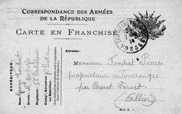 CP- Correspondance Des Armées -- 7 Drapeaux - - Marcophilie (Lettres)