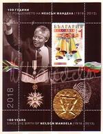 BULGARIA / BULGARIE - 2018 - Nobel Prize  100 Ans. De La Naissance De Nelson Mandela - Bl Suv. - Bulgarije