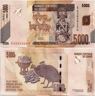 CONGO       5000 Francs       P-102b       30.6.2013 (2014)       UNC - Congo