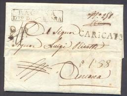 1810 Eccezionale NAPOLEONICA Raccomandata PP CARICATO Da RAGUSA - DUBROVNIK - 1. ...-1850 Prefilatelia