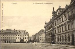 Cp Koblenz In Rheinland Pfalz, Kaiserliches Postamt, Clemensplatz, Straßenpartie, Stadttheater - Allemagne