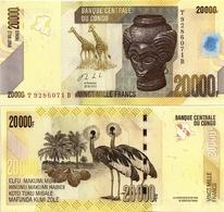CONGO       20,000 Francs       P-104b       30.6.2013 (2017)       UNC [ 20000 ] - Congo
